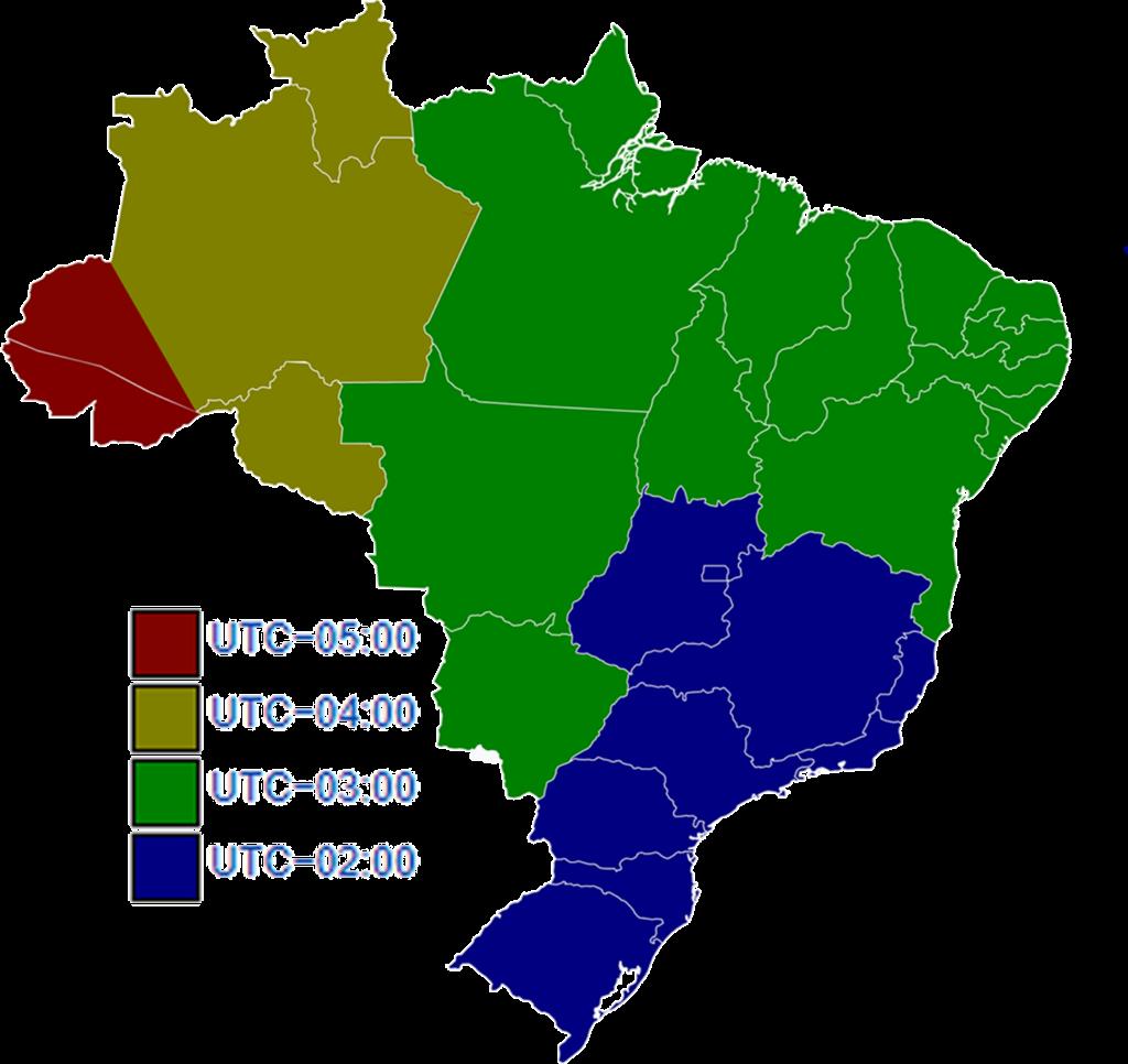 Brazil DST zones in Brazil from October 2017 to February 2018